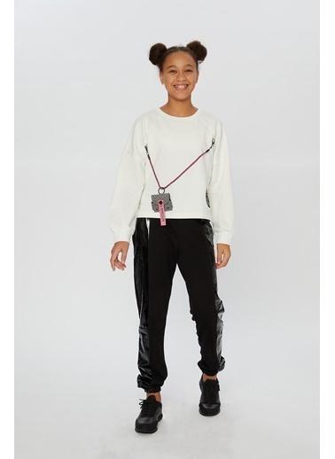 Little Star Little Star Kız Çocuk Askı Çantalı Sweatshirt Krem